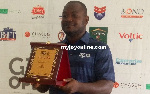 Kwadwo Poku displays his prize