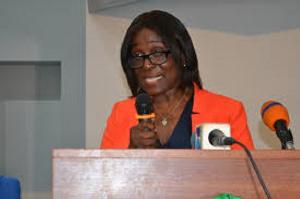 Chairman of the Public Services Commission, Janet Ampdu Fofie