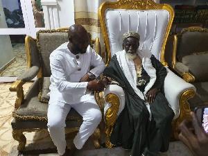 George Afriyie and National Chief Imam Sheikh Dr. Osmanu Nuhu Sharubutu