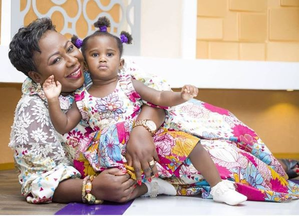 Gifty Anti with her daughter