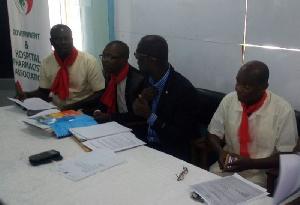 GHOSPA members addressing the media Tuesday