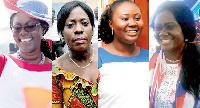 Ursula Owusu-Ekuful, Catherine Afeku, Francesca Oteng Mensah and Barbara Oteng Gyasi