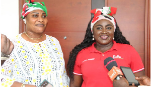 NDC's National Women's Organizer, Hannah Bissiw mobilizing support for former president Mahama