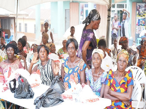 The widows received the donations