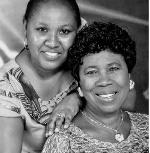 Gospel musician Rhoda Offei and mother