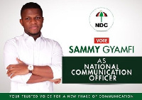 Sammy Gyamfi is running for the NDC National Communication Officer slot