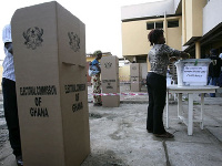 File photo of a voting centre