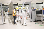 Officials disinfect Kotoka International Airport