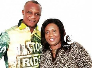 Former Black Stars coach, James Kwasi Appiah and his wife, Angela