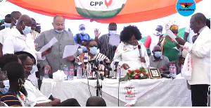 Some executives of the CPP being sworn-in