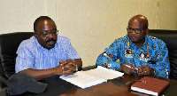 Dr. Callistus Mahama (left) has officially handed over to Dr. Nana Ato