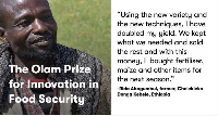 Olam Prize for Innovation in Food Security was launched in 2014