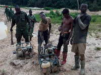 Apampram illegal miners in police custody