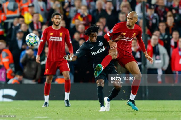 Ghana international Majeed Ashimeru played his first Champions League game against Liverpool