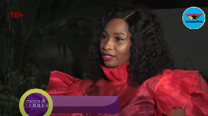 Cecilia sharing her views during Moans and Cuddles on GhanaWebTV