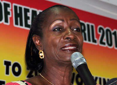 Madam Sherry Ayittey, the Minister of Fisheries