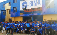 Staff of BIMA in a group photograph