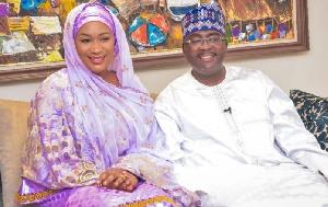 Dr Mahamudu Bawumia, Vice President of Ghana and his wife, Samira