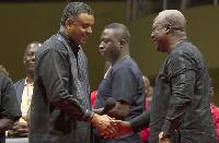 President Mahama with Dag Heward Mills
