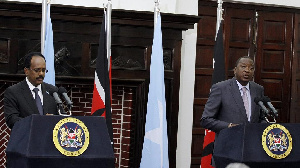 The Somali leader also expressed gratitude to Kenya for its role in AMISOM