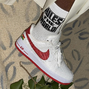 Virgil Abloh wore a version of his unreleased Luis Vuitton and Off-White Air Force One sneaker