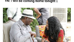 Yvonne Nelson and Kufour meme