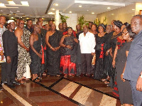 Nana Akufo-Addo sympathized with the Drobo Traditional Council after the demise of the Drobomanhene