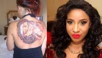 Tonto Dikeh claimsd she has 57 tattoos on her body.
