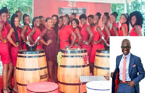 Contestants of Miss Ghana 2015   Inset:KKD