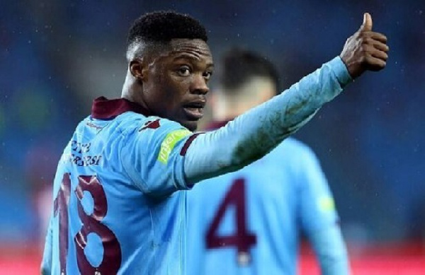 Caleb Ekuban features for Trabzonspor during 3-1 defeat to Alanyaspor