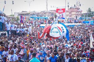 A section of NPP supporters