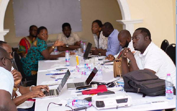 Young Ghanaian business owners gathered at the event