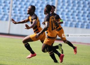 Eric Esso Scored A Free Kick In Ashantigold's 4 1 Win Over Berekum Chelsea In The MTN FA Cup