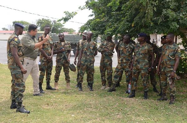 MINUSMA GHANENGCOY 8 undergoes specialist training