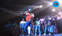 Dancehall artiste, Shatta Wale at the 'Untamed Energy Concert' in Tema
