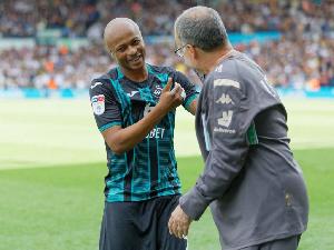 Black Stars Captain, Andre Dede Ayew and Leeds United manager, Marcelo Bielsa