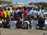Bright Addae, Afro Arab Group Chairman with Ghana Skate Soccer team
