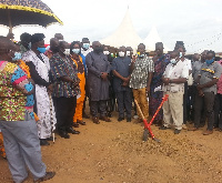 Officials breaking the ground for the commencement of  the project