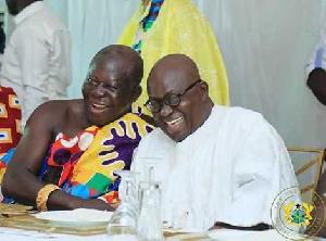 Otumfuo Osei Tutu II and President Nana Addo Dankwa Akufo-Addo