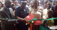 Brigadier General Nunoo Mensah with others during the commissioning of the Police station