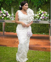 Zynnel Zuh's  look for designer, Sima Brew's engagement ceremony
