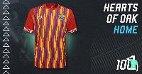 Hearts of Oak's Umbro home jersey