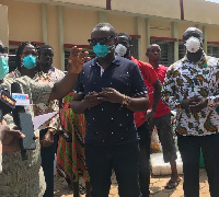 John Boadu led NPP delegation to distribute PPEs to health facilities nationwide