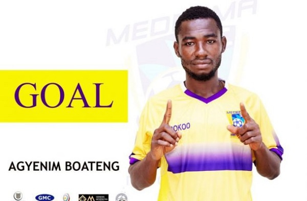 Agyenim Boateng was on target for Medeama