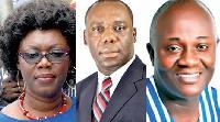 Ursula Owusu-Ekuful, Dr Mathew Opoku-Prempeh and Dan Botwe