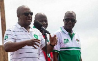 Former President Mahama during a tour(file photo)