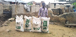 Visually impaired rice farmer supported with fertiliser