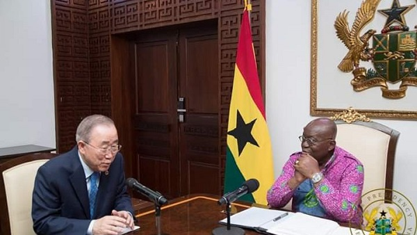 Akufo-Addo hosts Ban Ki Moon, Jack Ma at Jubilee House