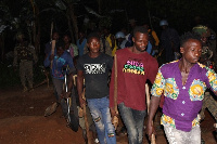 The illegal miners were found to be operating within the Atiwa West District
