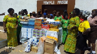 GBC Ladies making the presentation to prison officers at the Sekondi Female Prisons
